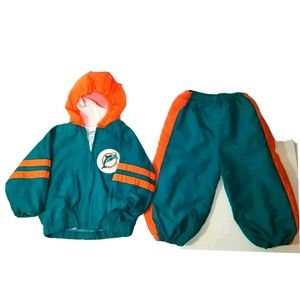 Vintage Baby Dolphins NFL Football Outfit 18m